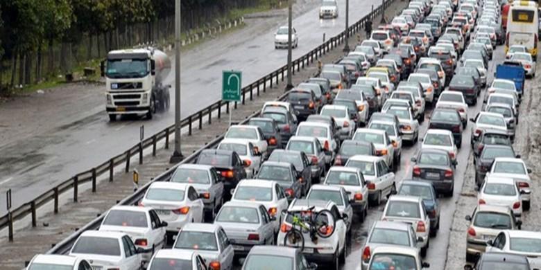 ترافیک سنگین در محور کندوان و آزادراه قزوین-تهران