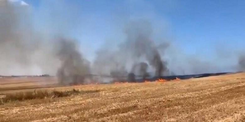 وقوع مجدد آتشسوزی در شهرکهای صهیونیستی اطراف غزه
